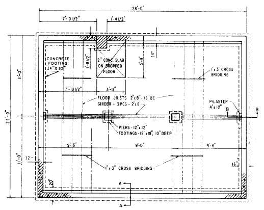 Foundation plan for Foundation plan of a 2 storey house