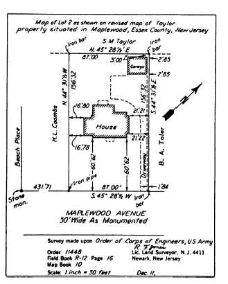 Figure 10 34 lot plan by metes and bounds 14071 231 for Metes and bounds